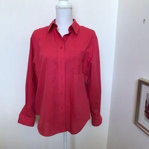 Foxcroft SZ 14P Button up Shirt wrinkle free NWOT